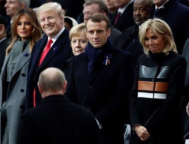 Ещё одна #фотка, которая оставляет простор для воображения #Трамп #Путин #Макрон #Меланья #Париж #fromdonetsk...