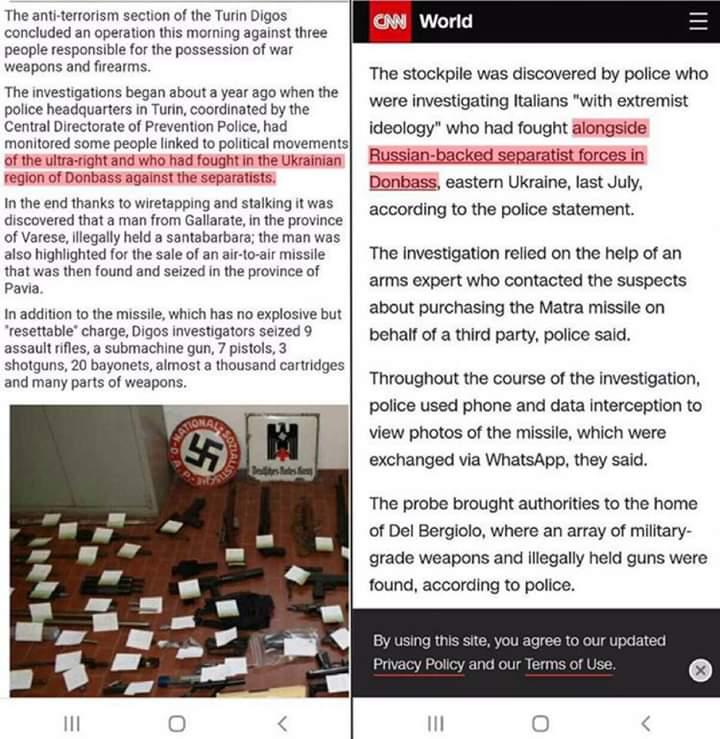 """В истории с """"ошибкой переводчика"""", которая радикально меняет для украинцев смысл новости о задержанных в Италии нео-наци с ар..."""