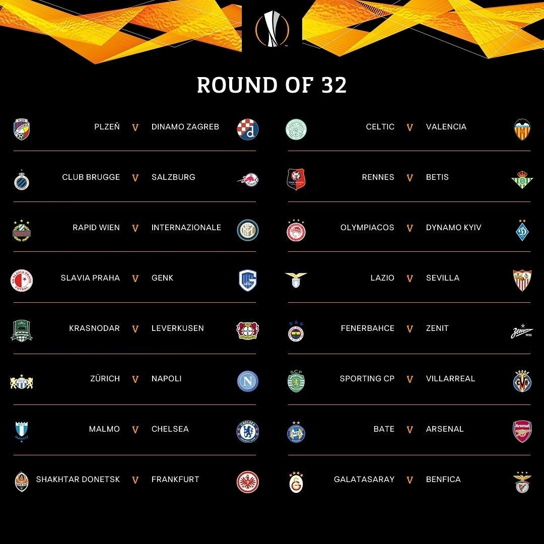 В 1/16 финала #ЛигаЕвропы #Шахтер играет с #Айнтрахт #Франкфурт Первая игра дома (пока нет информации где) ответная - в #Герм...