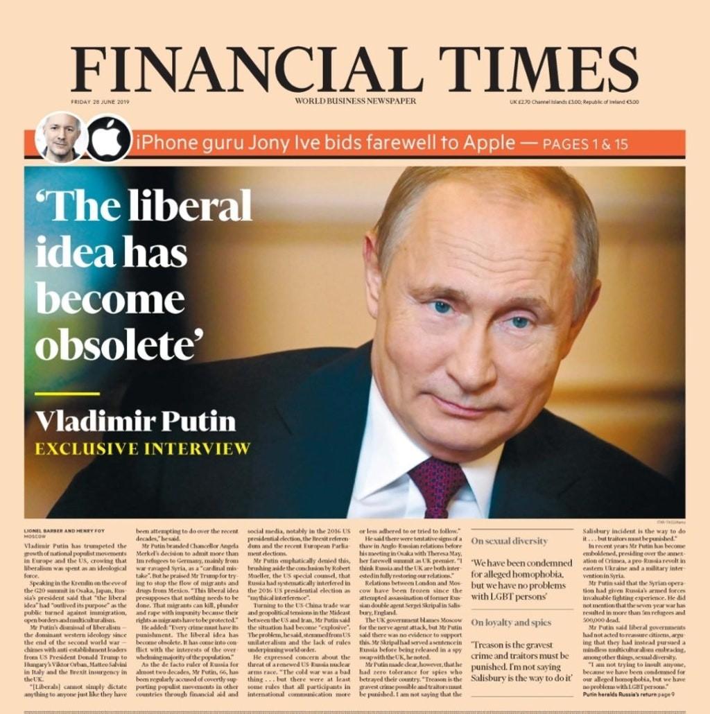 Владимир #Путин озвучил в Financial Times то, о чем некоторые только мечтают и немного забежал вперёд. Однако #красиво #fromd...