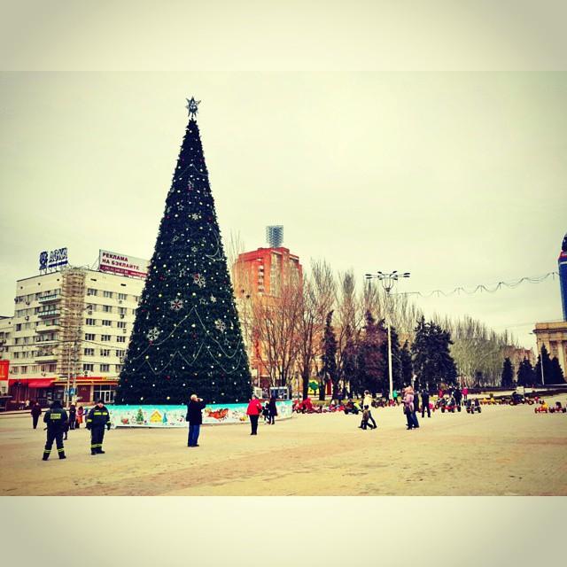 Город готовится к Новому Году #newyear #christmas #city #donetsk #fromdonetsk #christmastree #winter #instadonetsk...