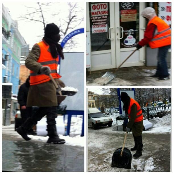 Оранжево-черный #Донецк #зима #снег #Украина #govoritdonetsk #winter #snow #Donetsk #Ukraine