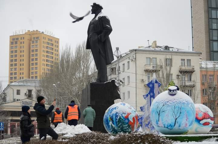 На площади #Ленин #Донецк #автор #фото Дмитрий #Ягодкин #fromdonetsk #Donetsk #Lenin