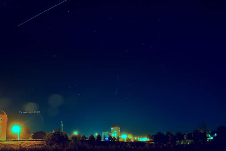 #Комета в чистом небе донецком  Пишет автор #фото Евгения #Карпачева  Как только я прослышала о комете, она не давала мне пок...