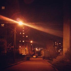 мягкая ночь #донецк #ночь #улица #фонарь #donetsk #night #nightcity #citylight #street #govoritdonetsk...