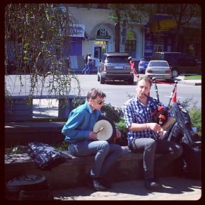На Голове всегда весело #музыка #волынка #Донецк #Украина #Ukraine #Donetsk #musics #pipe...