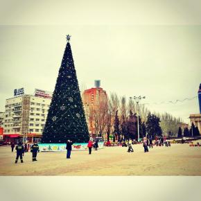 Город готовится к Новому Году #newyear #christmas #city #donetsk #fromdonetsk #christmastree #winter #instadonetsk...