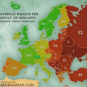 #Украина - беднейшая #страна Европы #CreditSuisse recently published a study comparing the wealth (net worth) of an average a...
