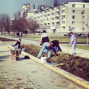 Весна пришла,пора и за работу #Donetsk #govoritdonetsk #spring #workers #донецк #весна #рабочие...