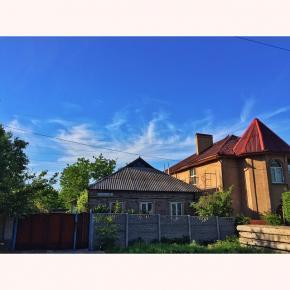 #donetsk #fromdonetsk #типичныйдонецк #city #street #streetphoto #sky #clouds #house #trees #spring #instadonetsk