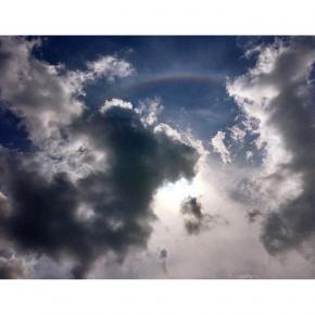 Сегодня на открытии Донецк-сити поднял голову, а там такое #донецк #типичныйдонецк #sky #skylovers #iphonesia #iphoneonly #ip...