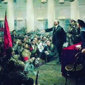 Не знаю художника и название картины, но она как раз подходит к сегодняшнему дню #7ноября #ВОСР #25октября #Ленин #революция ...