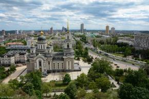 Спасо-Преображенский кафедральный #собор и открывающаяся #панорама города #Донецк. Собор построен по образцу взорванного в 19...