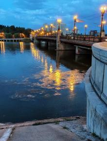 """""""Белые ночи Донецка"""", назвал это #фото его автор Равиль Акмаев #Донецк #Кальмиус #fromdonetsk #Donetsk..."""