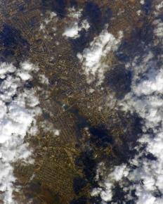 Российский космонавт Иван Вагнер, который находится на  Международной космической станции, опубликовал фото Донецка, сделанно...