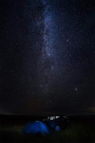 """""""Вспомнить, как выглядит звёздное #небо, можно только вдали от света городов. Ночь в Половецкой степи (Национальный природный..."""