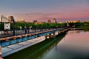 """""""Привычные, но всегда разные виды центрального моста парка Щербакова и рядом"""", - пишет #автор #фото Евгения #Карпачева #Донец..."""