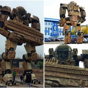 """""""Силами компании KAMAZ собран робот и размещен напротив центрального офиса, который находится по адресу ул.Горновая 2а.  #до..."""