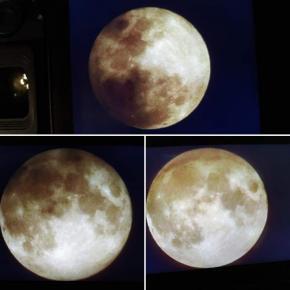 #Сегодня было частичное затмение Луны, сейчас ещё немного видно, - пишет автор #фото Евгения #Карпачева #fromdonetsk...